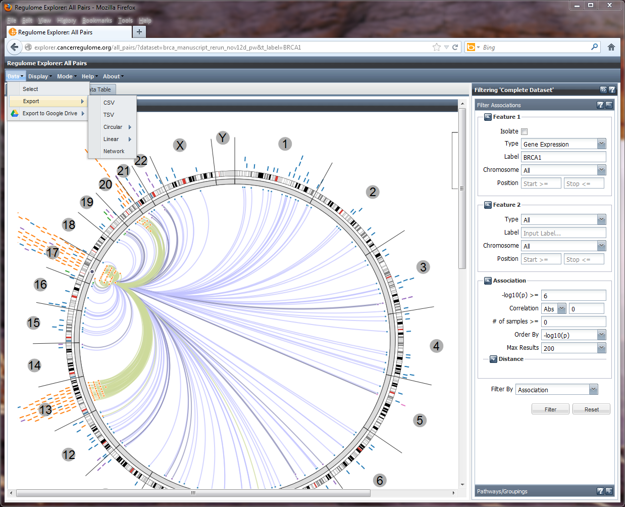 Regulome Explorer All Pairs - save options.png